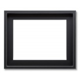 Cadre Abstract Noir filet platine
