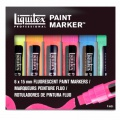 Set de 6 marqueurs Liquitex Paint Maker Fluo - Pointes larges