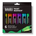 Set de 6 Paint Markers Liquitex Vibrant - Pointes larges