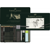 Set Pitt Graphite Boîte Metal Grand - Faber-Castell