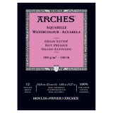 Papier aquarelle grain satiné Arches 300g